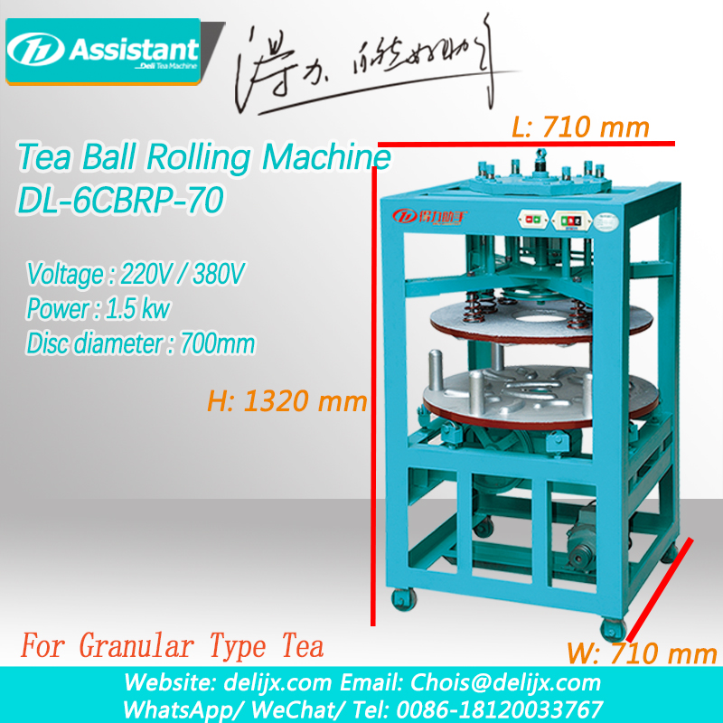Oolong Tea TieGuanYin Canvas Wrapping Balling And Rolling Machine DL-6CBRP-70