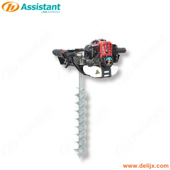 Gasoline One Man Use Best Hand Held Earth Auger Machine 150mm Drill Bit
