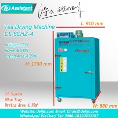 Herbal/Green/Black Tea Dryer Machine 220V Electric Heating DL-6CHZ-4
