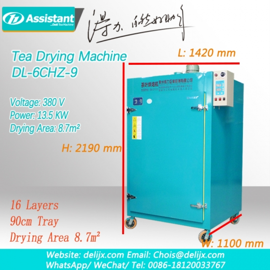 Small Flower Tea Rotary Type Electric Heating Tea Leaf Drying Machine 6CHZ-9
