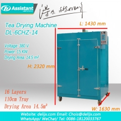 Electric Heating Green Tea Leaves Dryer Machine DL-6CHZ-14