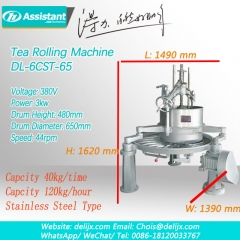 Tea Leaf Rolling Processing Machine Green Black Oolong Tea Rolling Table Machine 6CRT-65