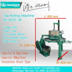 Small Tea Leaves Kneading Machine Green Tea Black Tea Roller 6CRT-35