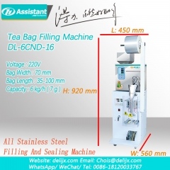 Matcha Tea Bag Semi Automatic Filling And Sealing Machine