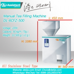 Manual Tea Bag Filling Machine For Black/Oolong/Green Tea